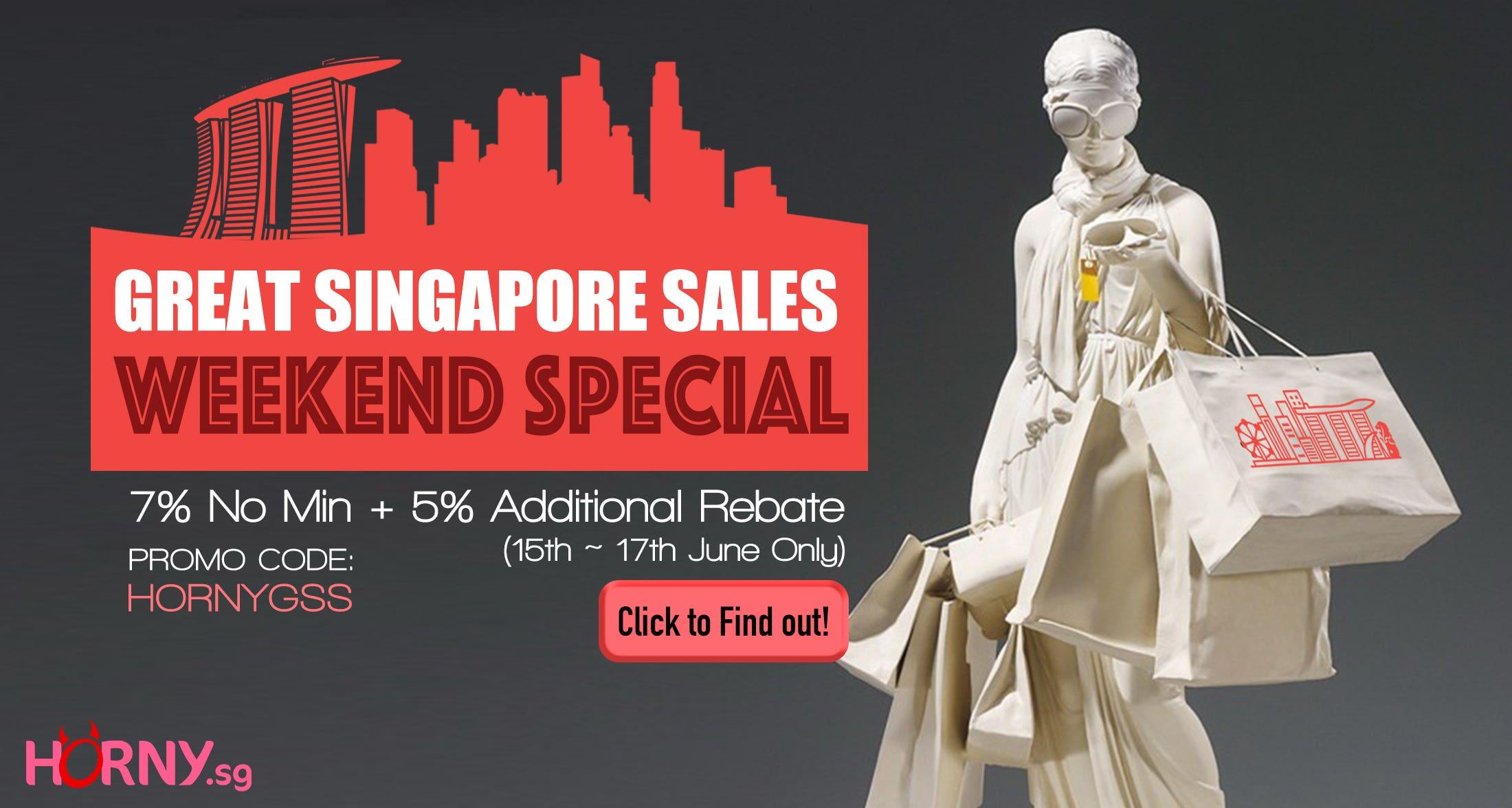 Great Singapore Sales 2018 7% Off No Min. + 5% Rebate