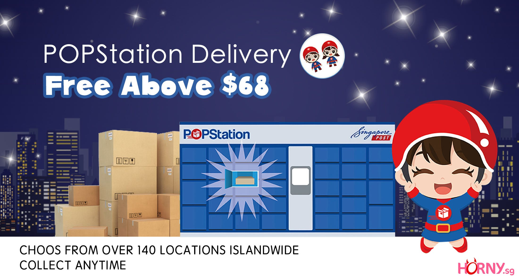Free POPstation Delivery Above $68 !