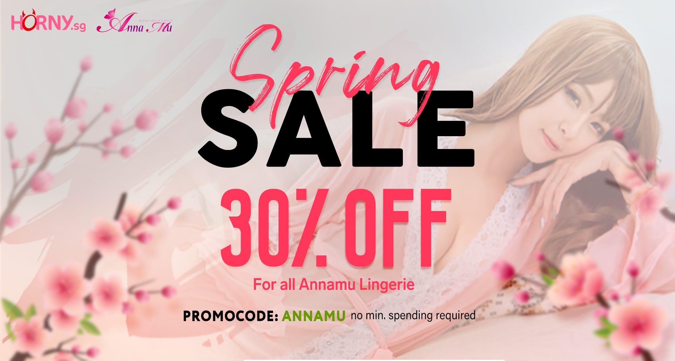 Springh Sales 30% OFF Anna Mu Lingerie