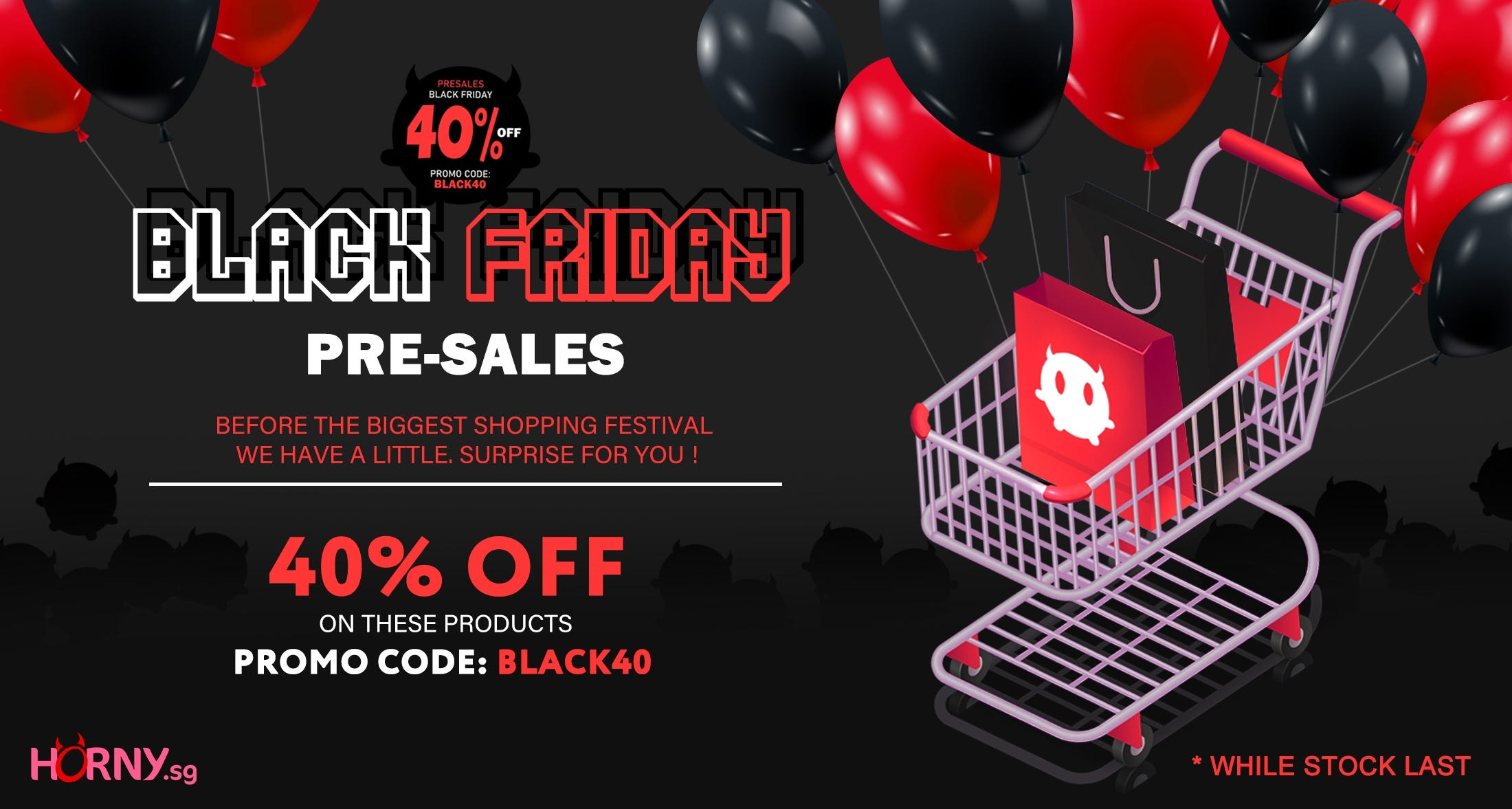 Black Friday 40% OFF Listed items