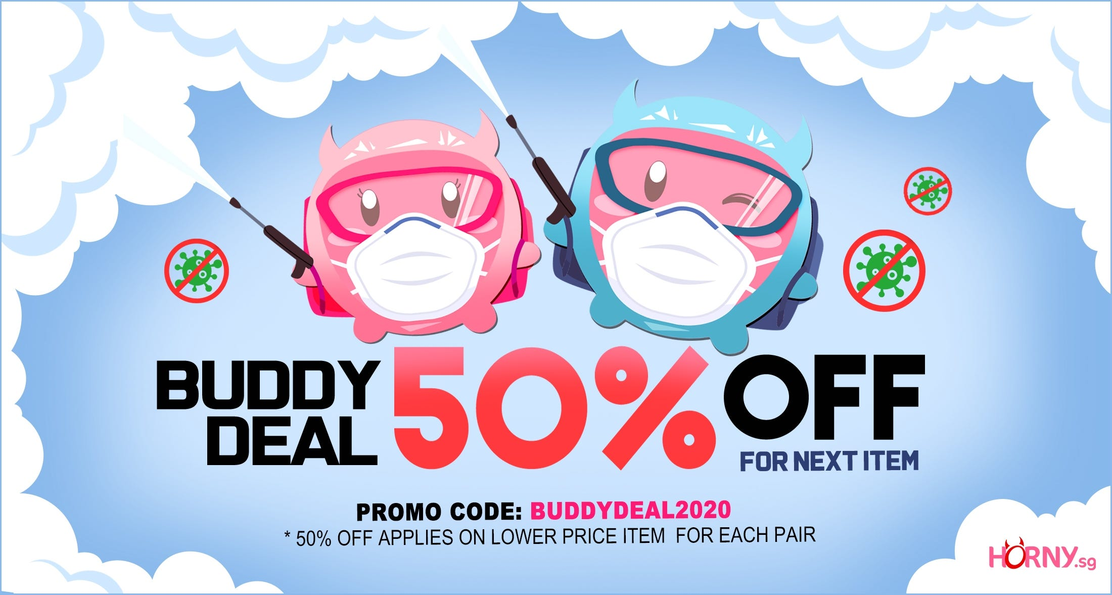 Get the Next item at 50% OFF !