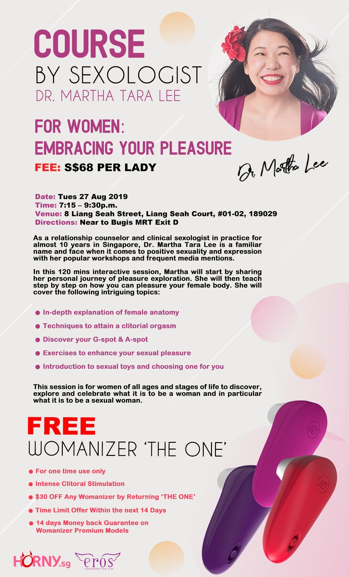 Course by Sexologist : Dr Martha Lee