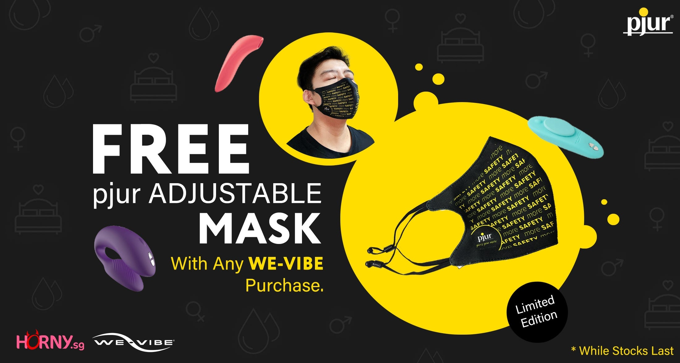 free pjur Mask with We-vibe