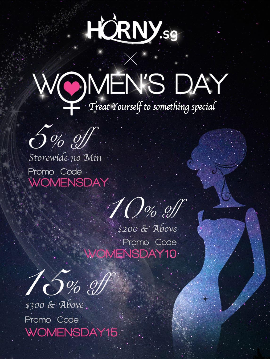 Women's Day - 5% Off No Minimum!